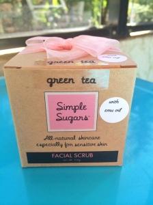 Simple Sugars Green Tea Facial Scrub